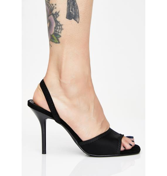 Midnight Escape Slingback Heels