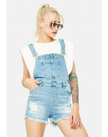 True Counter Culture Distressed Denim Short Overalls