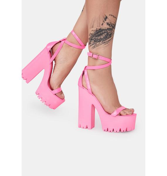 Lemon Drop by Privileged Pink Belush Platform Heels