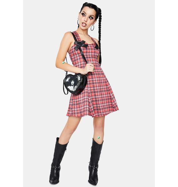 Dr. Faust Evangeline Punk Tartan Mini Dress
