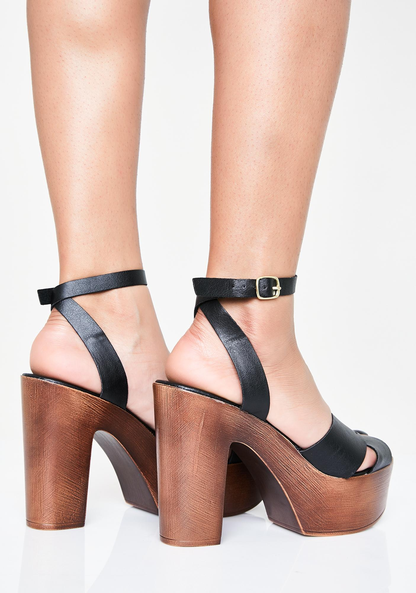 Top Timber Platform Heels