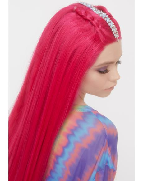 Pink Kink Lace Front Wig