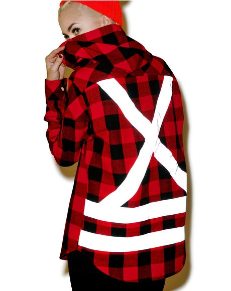 Utility Hooded Button Up Flannel