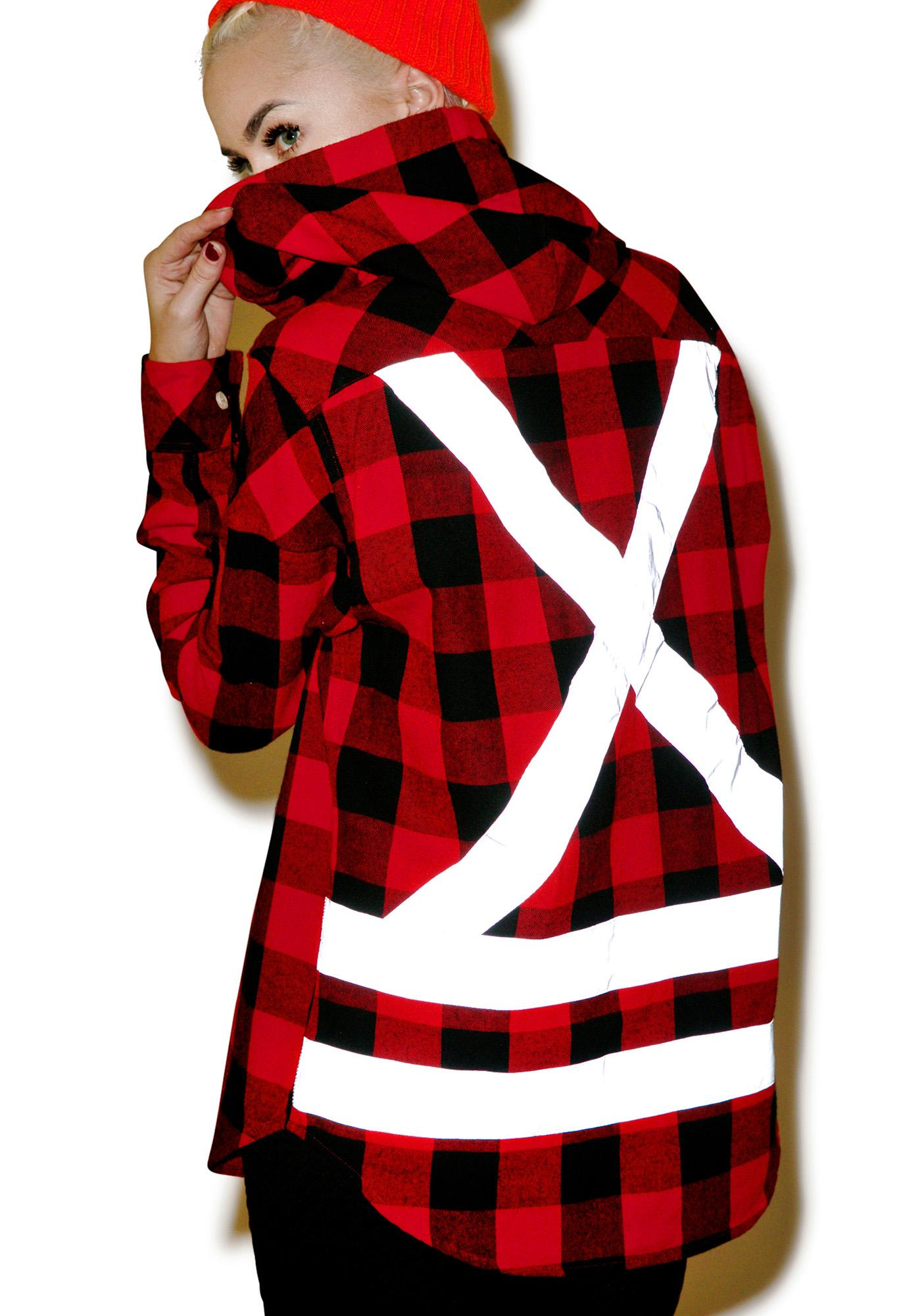 Mishka Utility Hooded Button Up Flannel