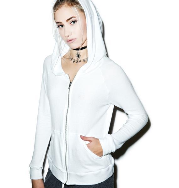 Lauren Moshi I Don't Care Zip Up Hoodie