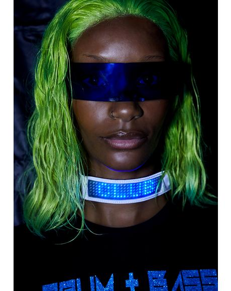 Chrome Beamed Up Baddie Light-Up Choker