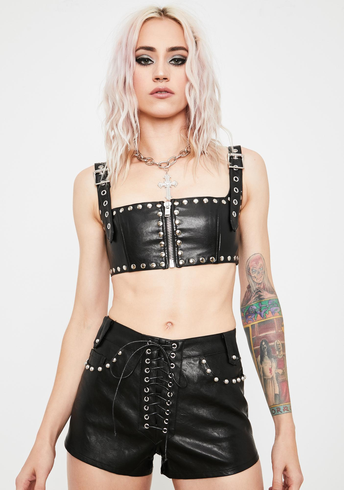Current Mood High Volume Lace-Up Shorts