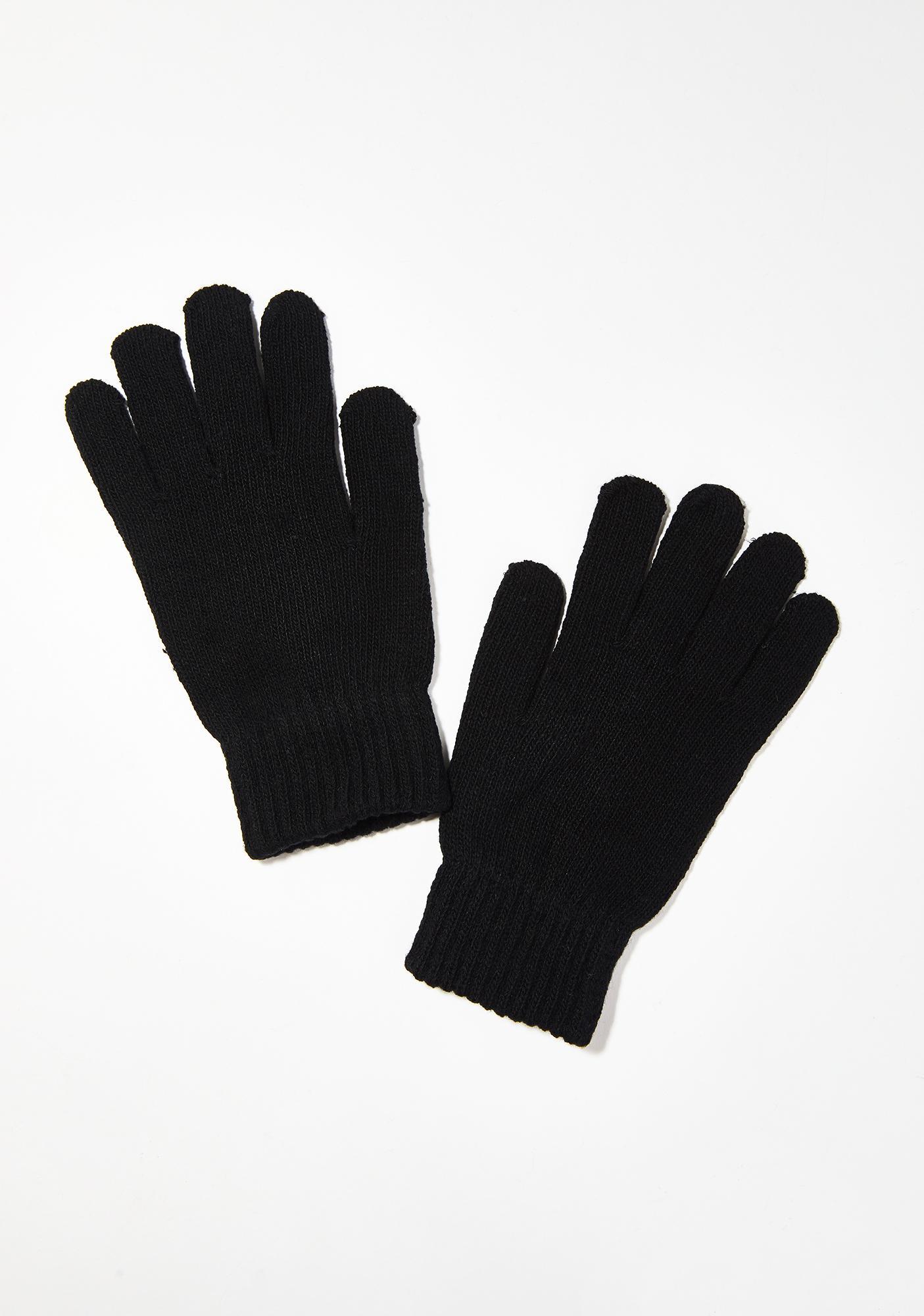 Don't Be Basic Knit Gloves