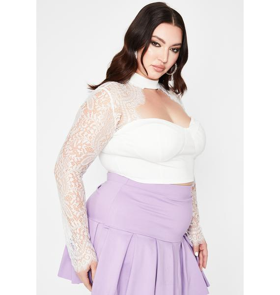 Pretty Pure Intentions Lace Crop Top