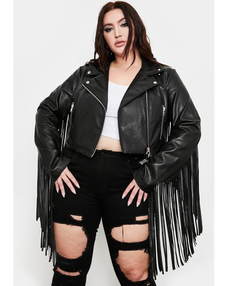 The Hateful Ace Fringe Moto Jacket