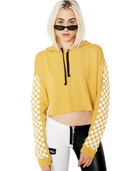 On Ur Mark Cropped Hoodie