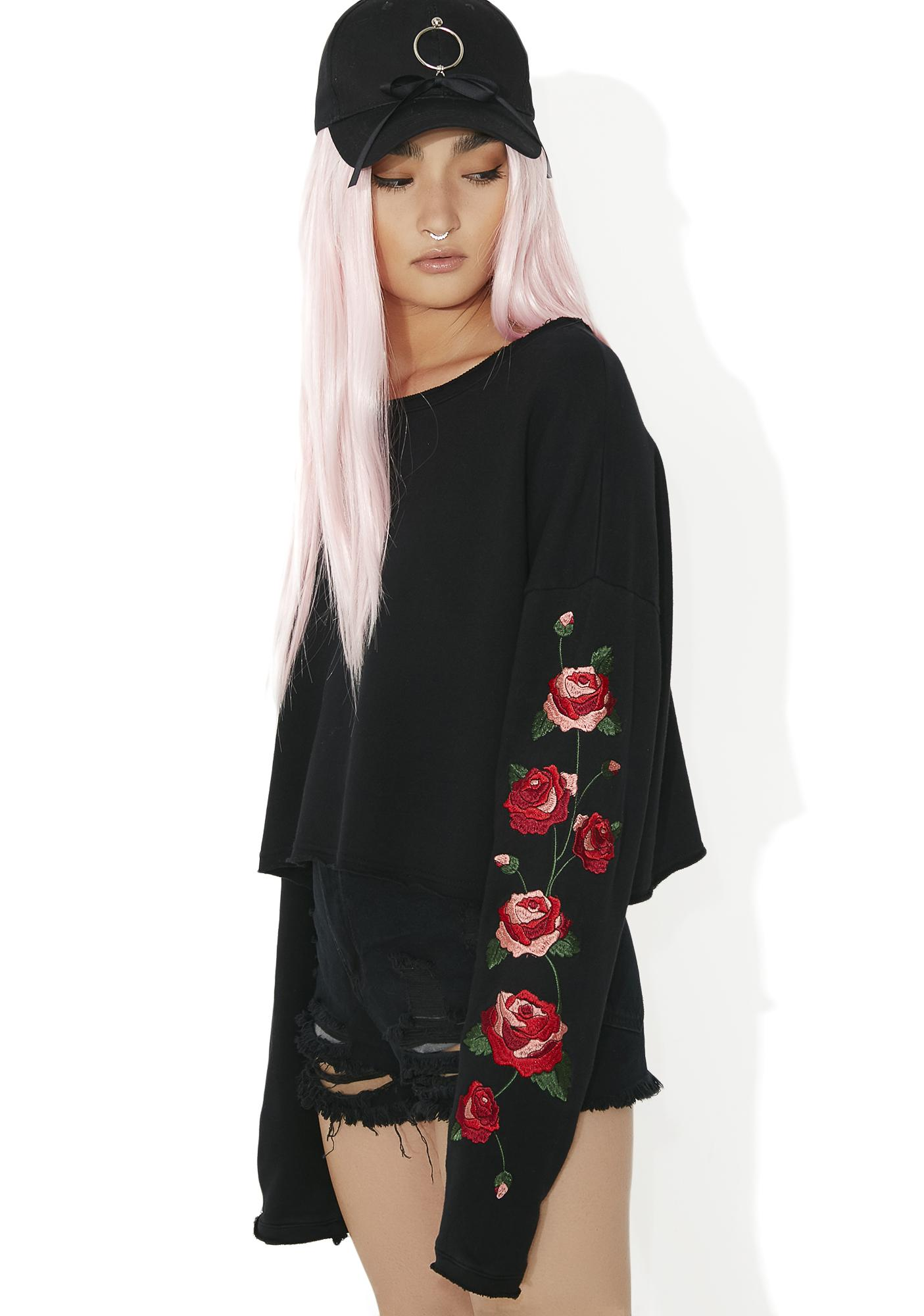 Among The Roses Embroidered Top