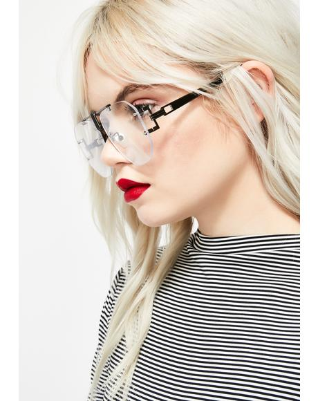 Techie Temptress Clear Glasses