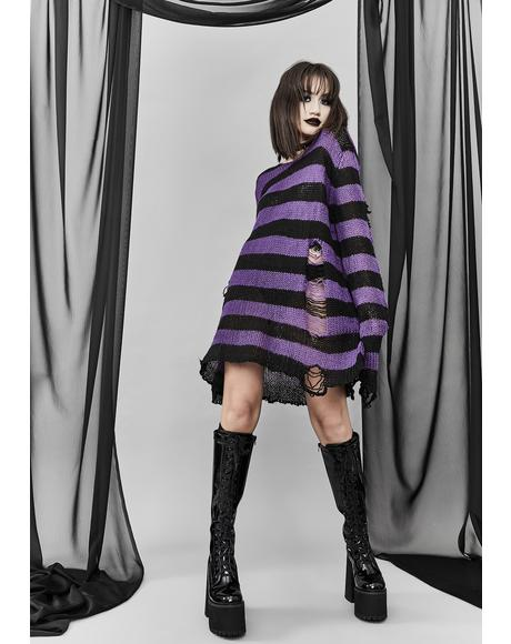 Amethyst Eternal Nightmare Distressed Sweater
