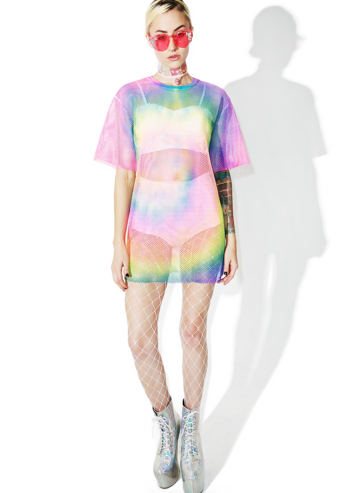 Dropper Tie Dyed Mesh Tee