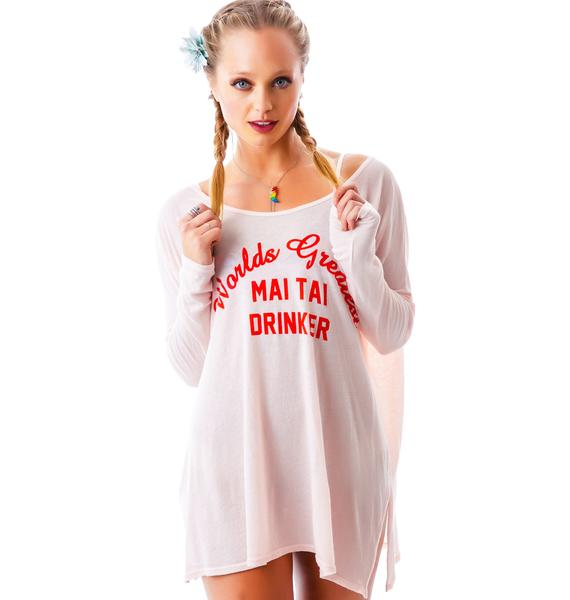 Wildfox Couture Mai Tai Drinker Bonfire Beach Tee