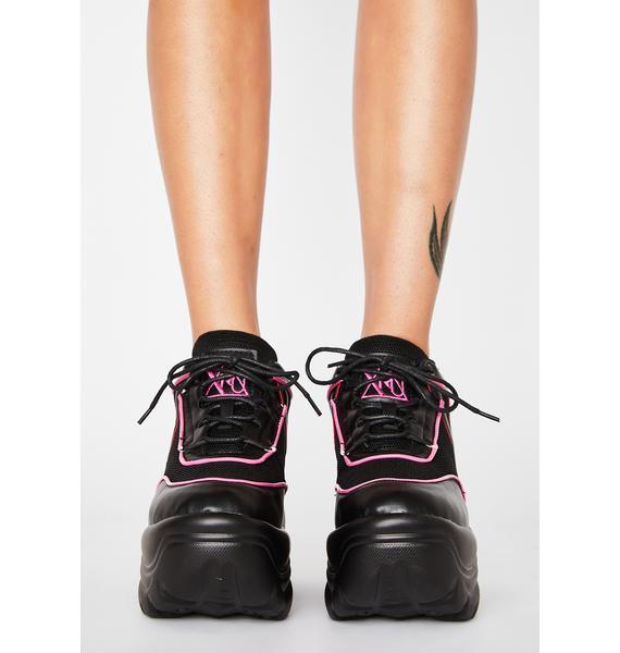 Y.R.U. Pink Neon Matrixx Platform Sneakers