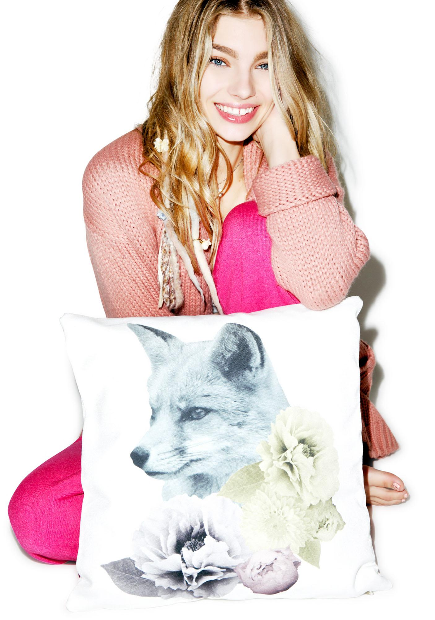 Fox n' Flora Pastel Pillow