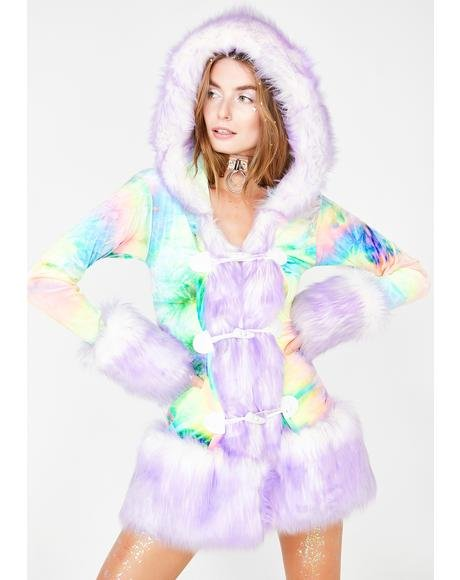 Milky Rainbow Hooded Coat
