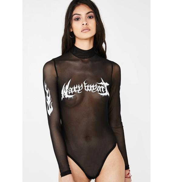 Mary Wyatt London Infernus Mesh Bodysuit