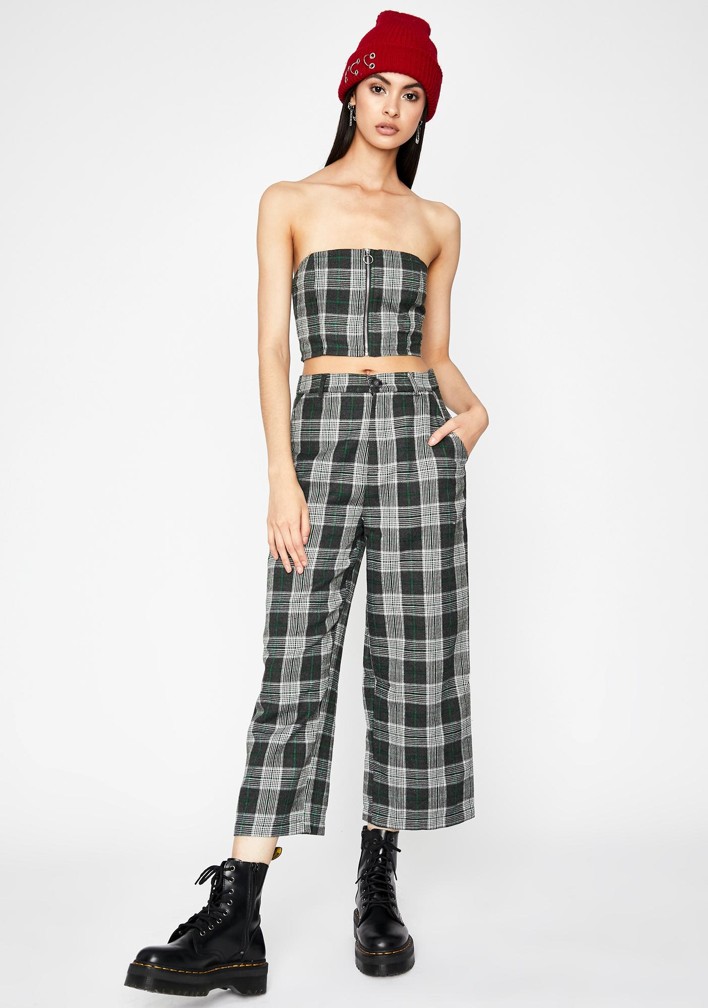 Edge Of Seventeen Plaid Top
