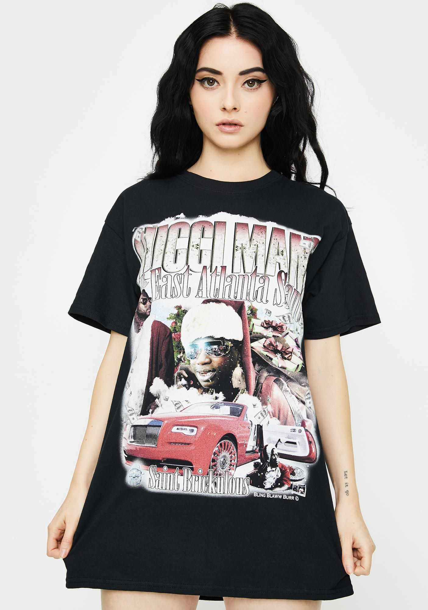 Hood Santa Graphic Tee by Homage