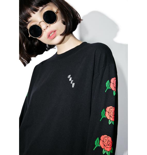 Obey Olde Rose Long Sleeve Tee