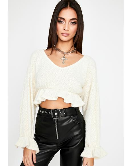 Fine By Me Crop Sweater