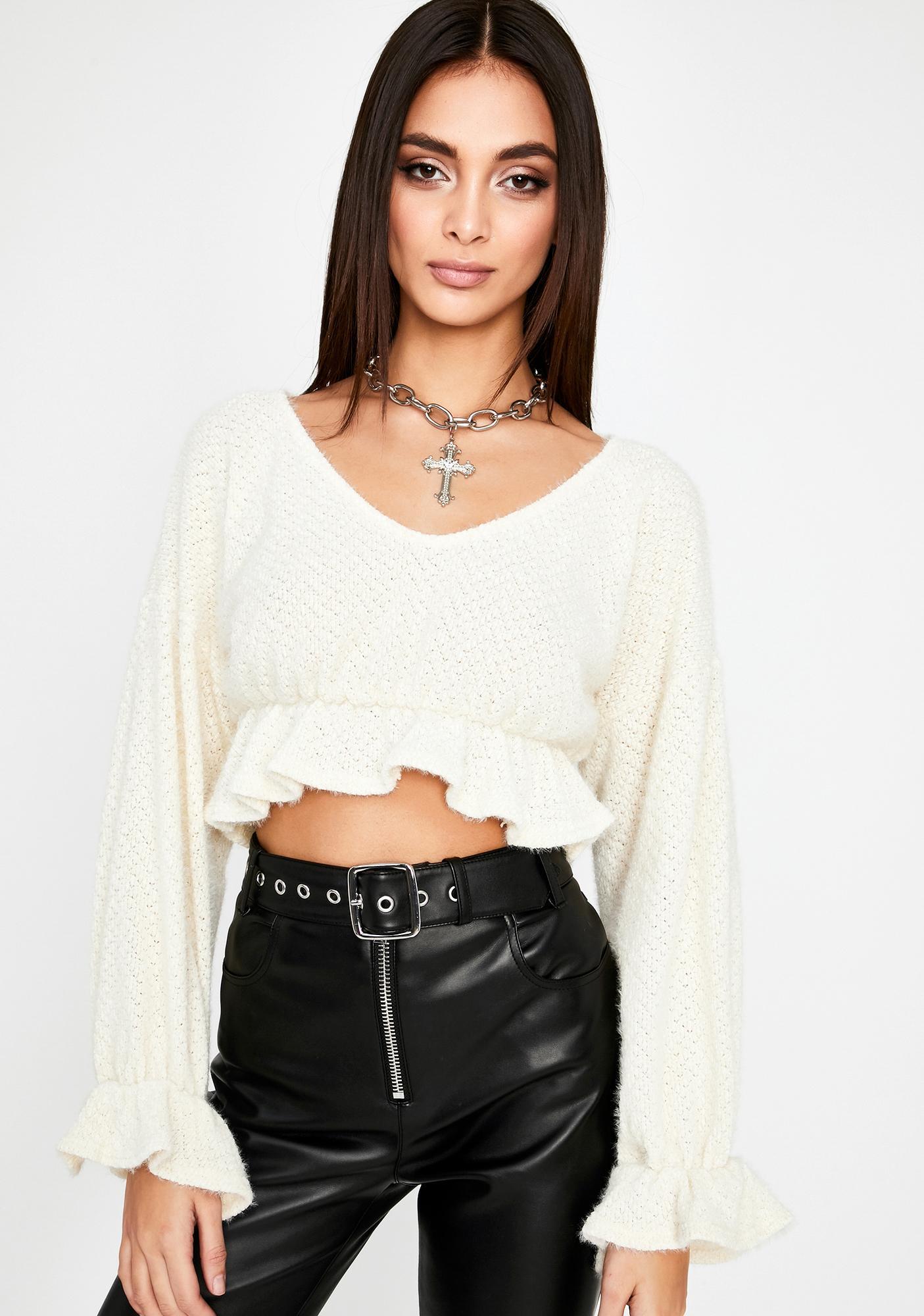 Fine By Me Crop Sweater