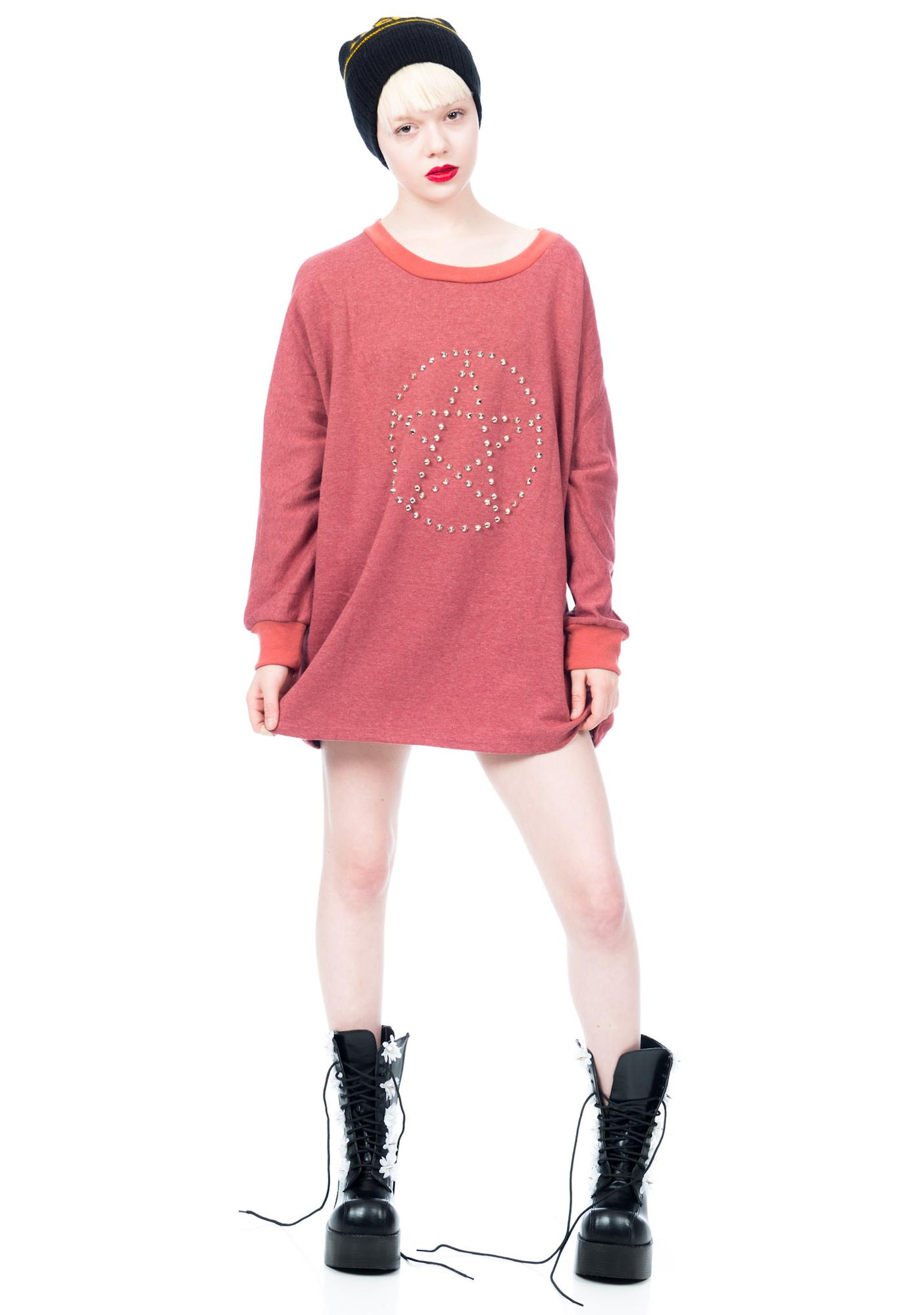 Bandaid Babes Pentagram Jumper