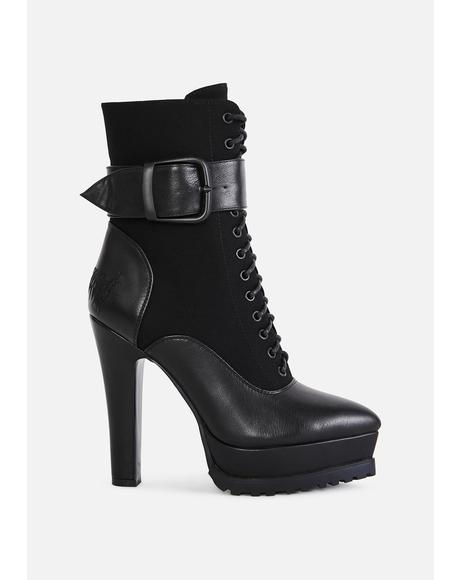 Bassline Lace Up Ankle Boots