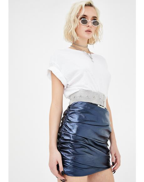 The Glow Up Navy Mini Skirt