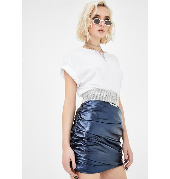 Lioness The Glow Up Navy Mini Skirt