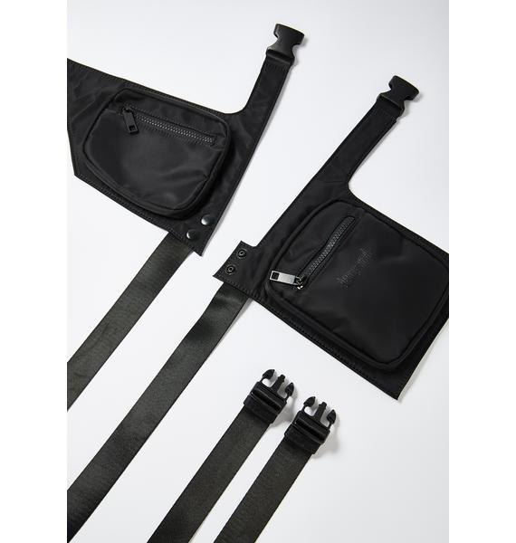 DARKER WAVS Snare Double Bag Utility Chest Harness