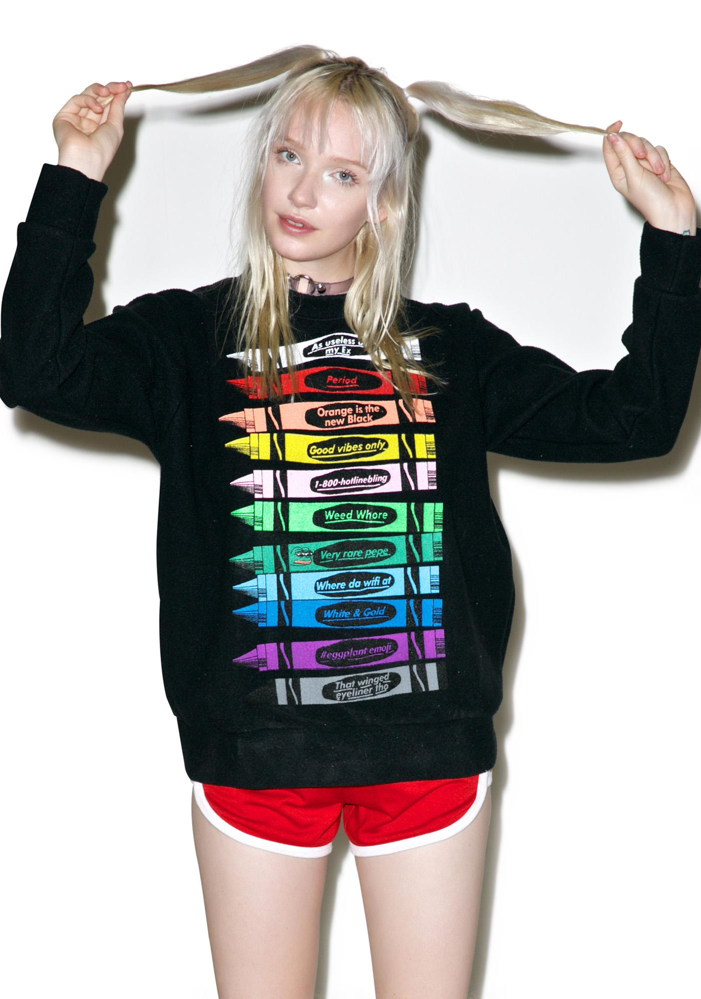 O Mighty OG Crayon Sweater