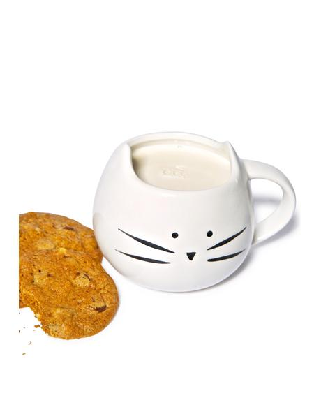 White Kitty Mug