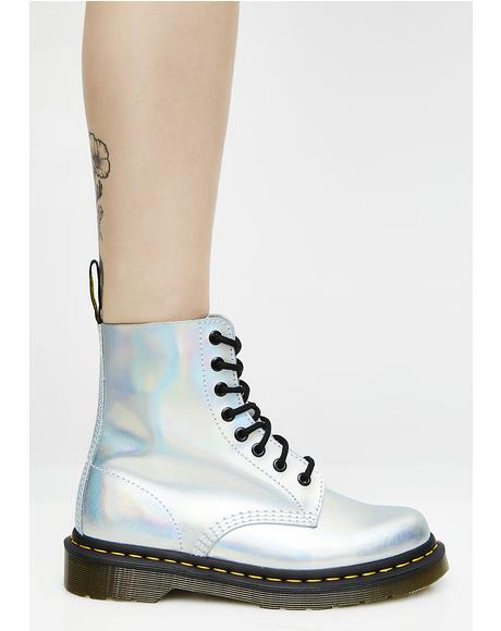 Silver Iced Metallic Pascal Boots