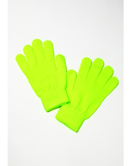 Martian Madness Neon Gloves
