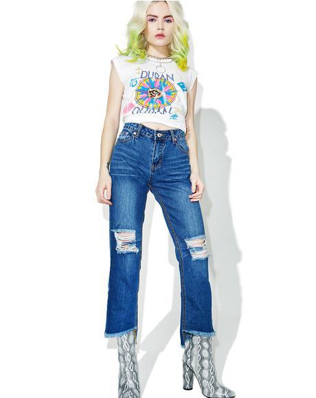 Split Vision Distressed Jeans