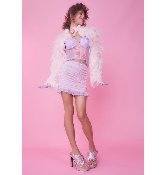 Sugar Thrillz Queen's Daughter Mesh Skirt