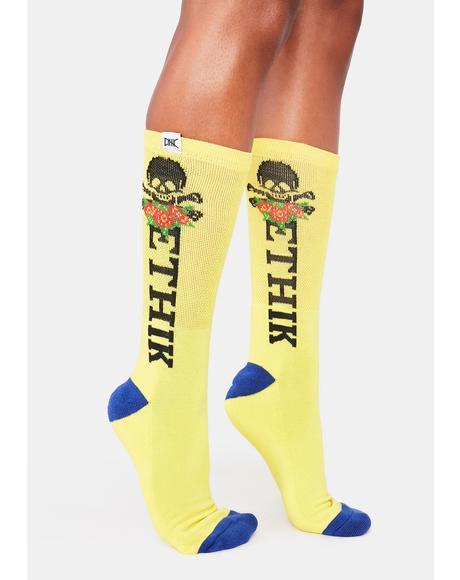 Yellow Marauder Socks