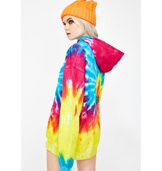 Winters Vacay Tie Dye Hoodie