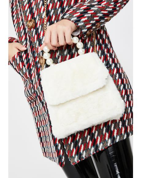 Pearl If You Fancy Fuzzy Handbag