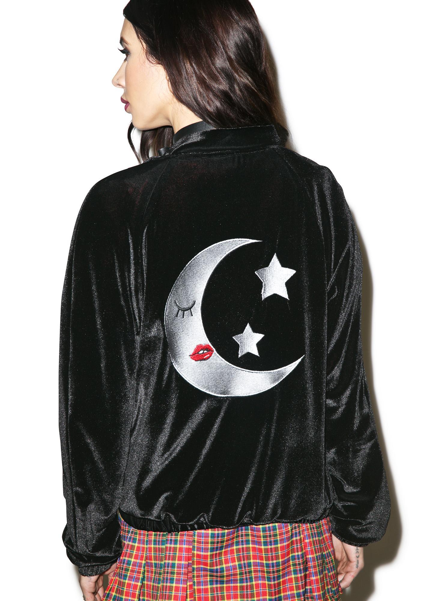 Valfré Lune Velvet Bomber Jacket