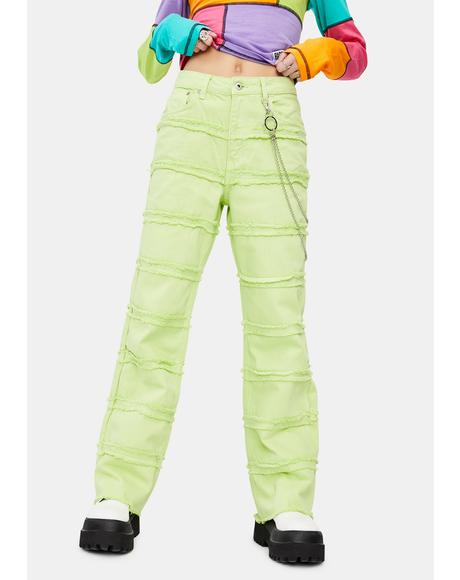 Lime Lethal Dad Jeans