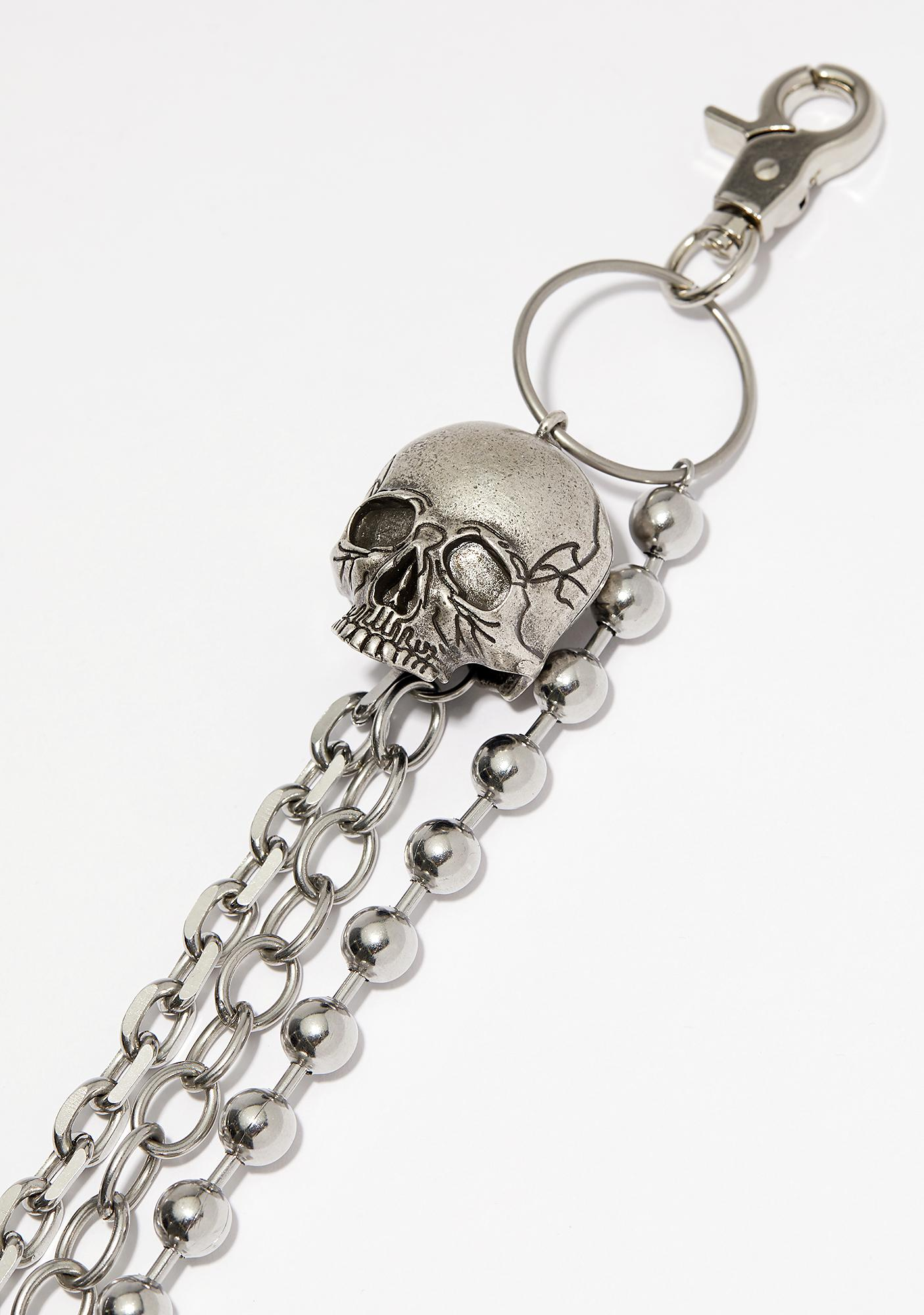 Disturbia Skull Belt Chain
