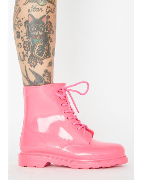 Candy Glow For It PVC Booties