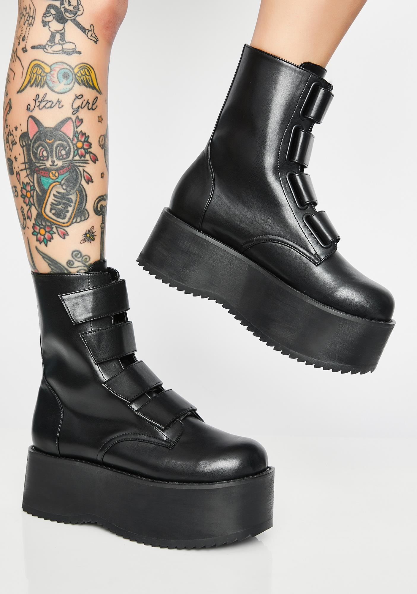 a77e7ac4c6bb Eye Of The Storm Flatform Boots by Current Mood