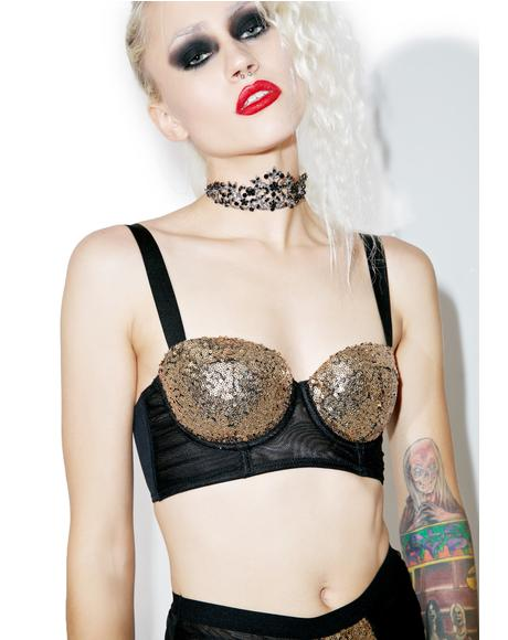 Tallulah Sequined Bra
