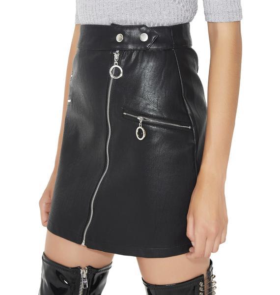 Midnight Ticket To Ride Mini Skirt